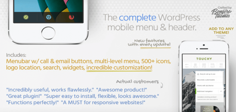 Item cover for download Touchy - WordPress Mobile Menu Plugin